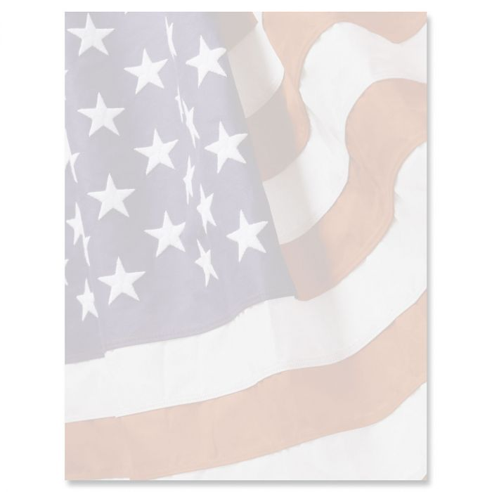 American Flag Patriotic Letter Papers