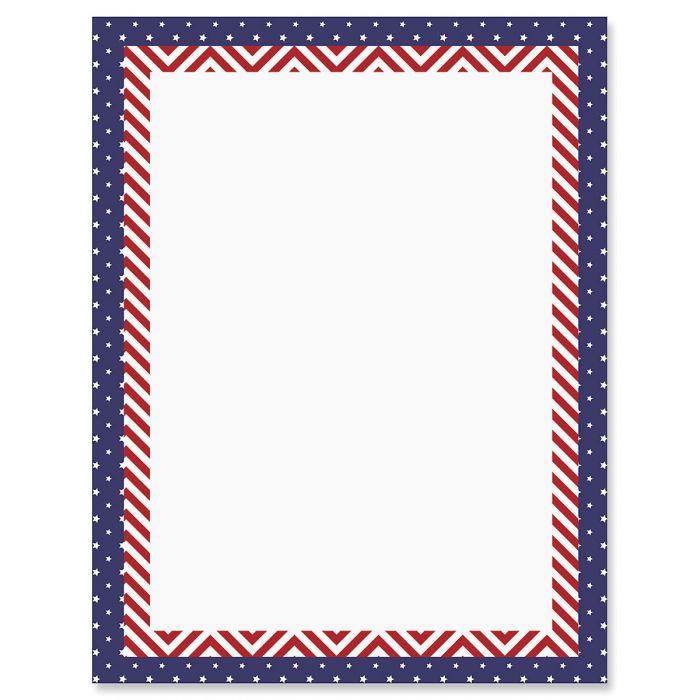 Patriotic Banner Patriotic Letter Papers