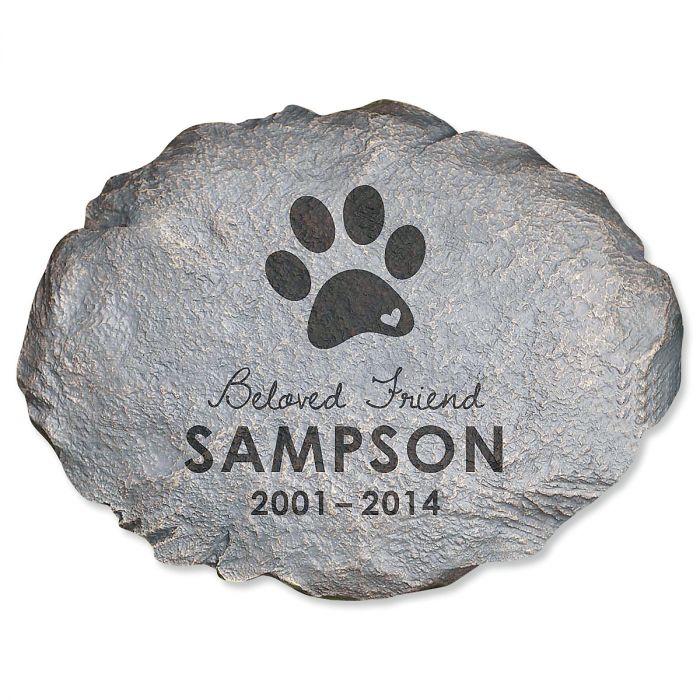 Personalized Beloved Friend Pet Memorial Stone