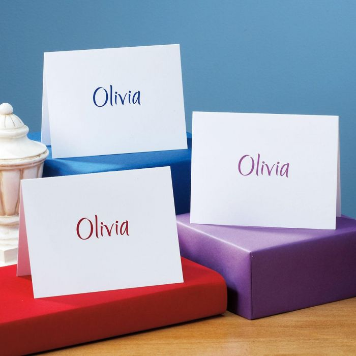 Elegant Personalized Note Cards & Envelopes