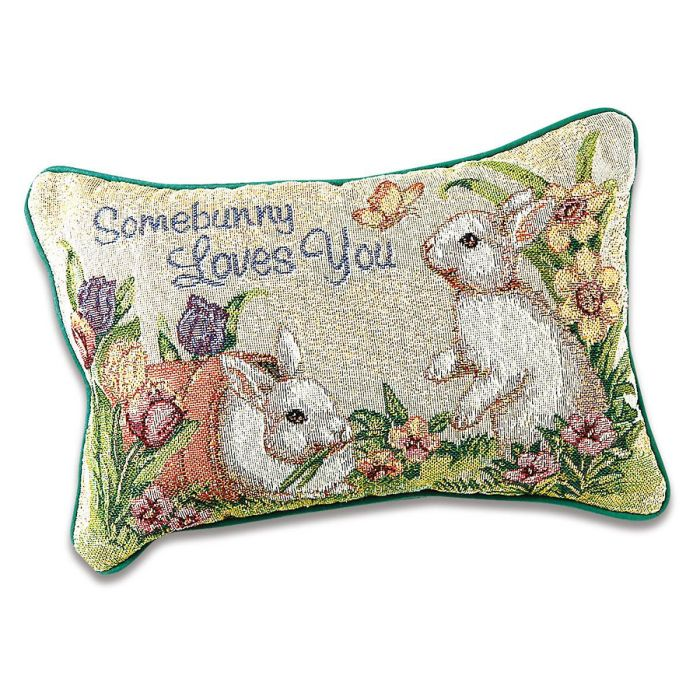 Somebunny Loves You Decorative Pillow