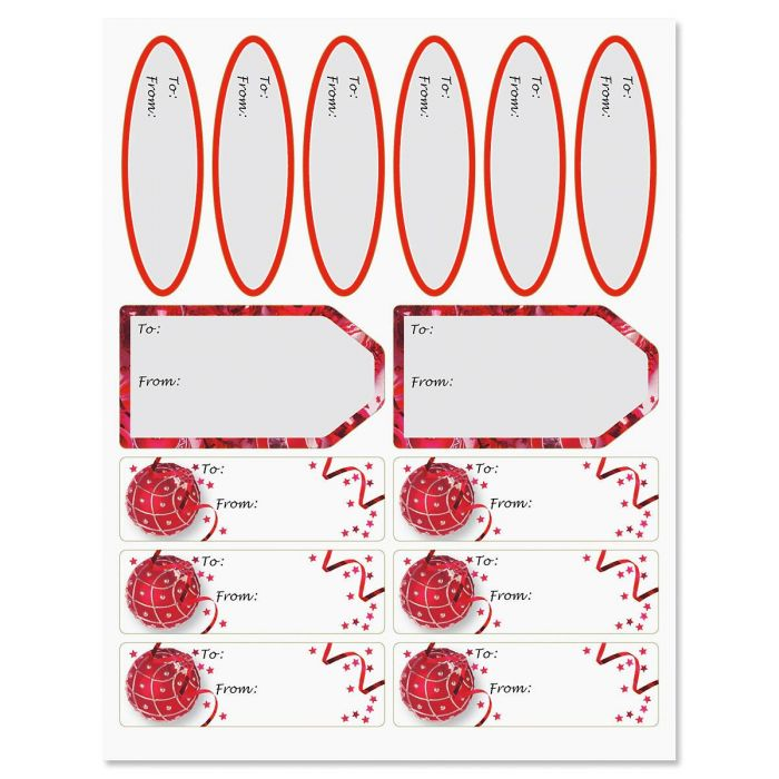 Ruby Ornaments Labels