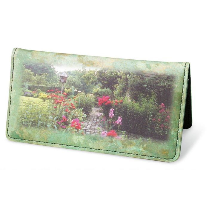 Gorgeous Gardens Premium Checkbook Covers