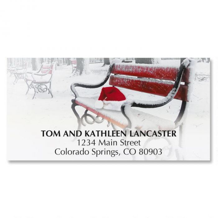 Santa Was Here Christmas Address Labels