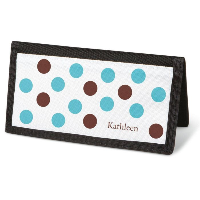 Pastel Dots Checkbook Cover - Personalized