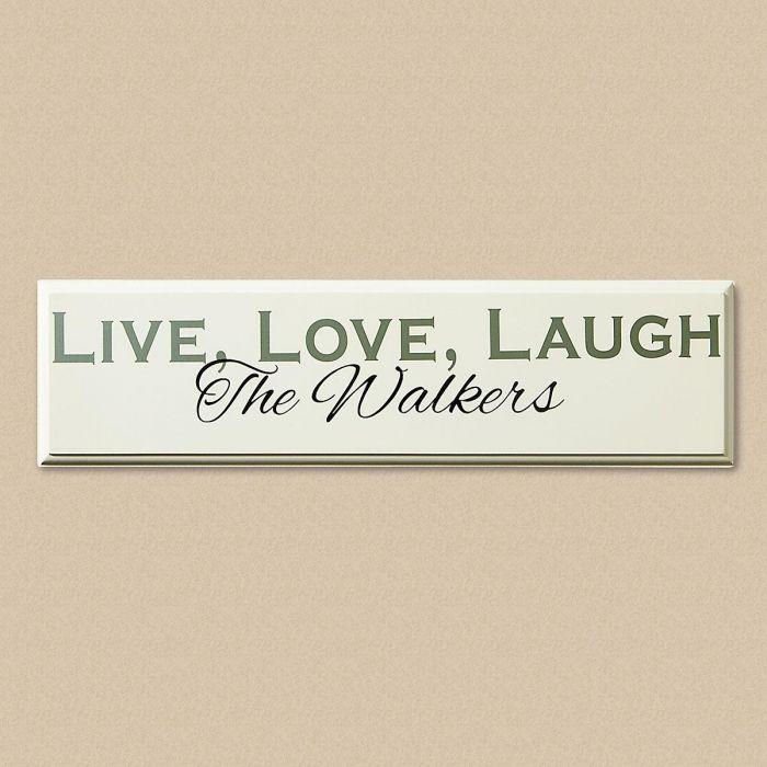 Live, Love, Laugh Wood Plaque