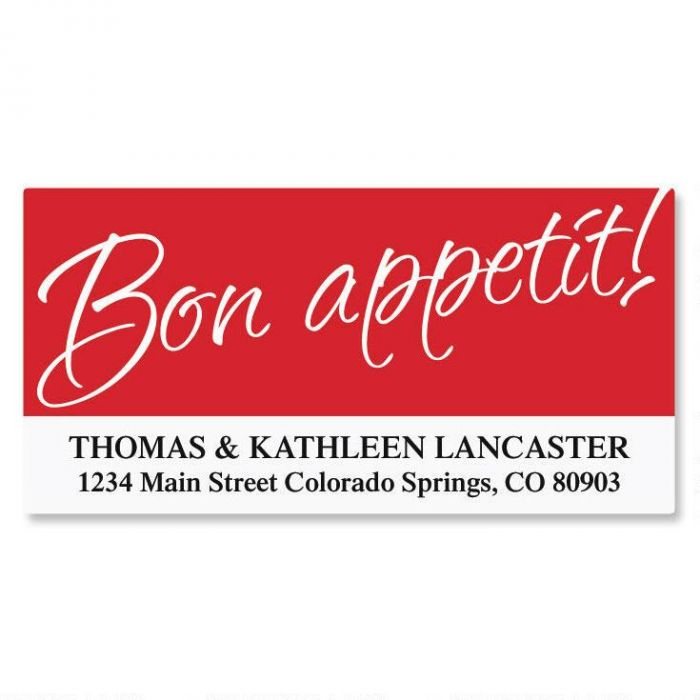 Cooking Deluxe Address Labels