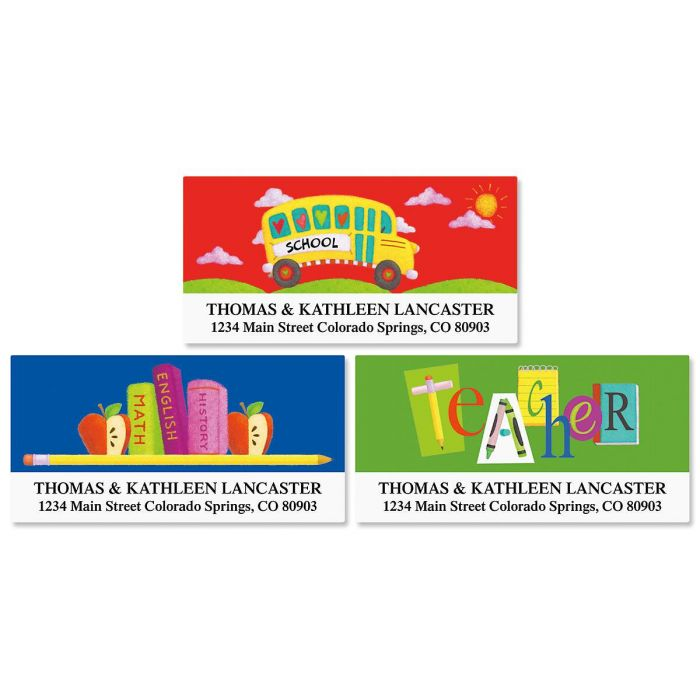 Teacher  Deluxe Address Labels  (3 designs)