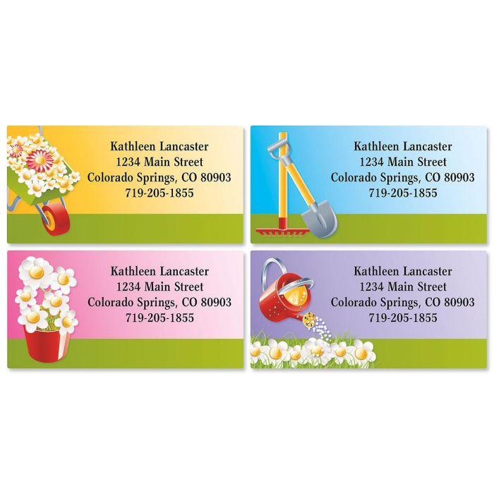 Landscaper Border Address Labels  (4 designs)