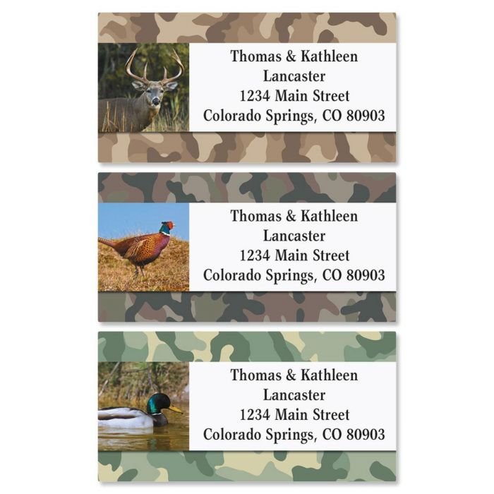 Hunter Classic Address Labels  (3 designs)