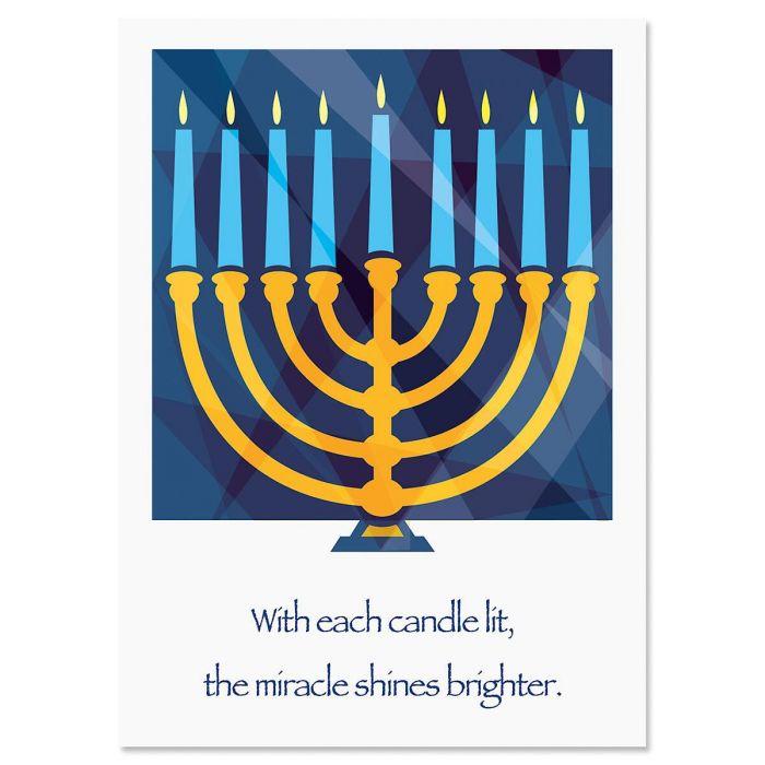 Personalized Hanukkah Menorah Card