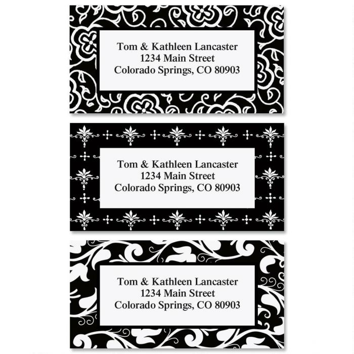 Black and White Address Label  (3 designs)