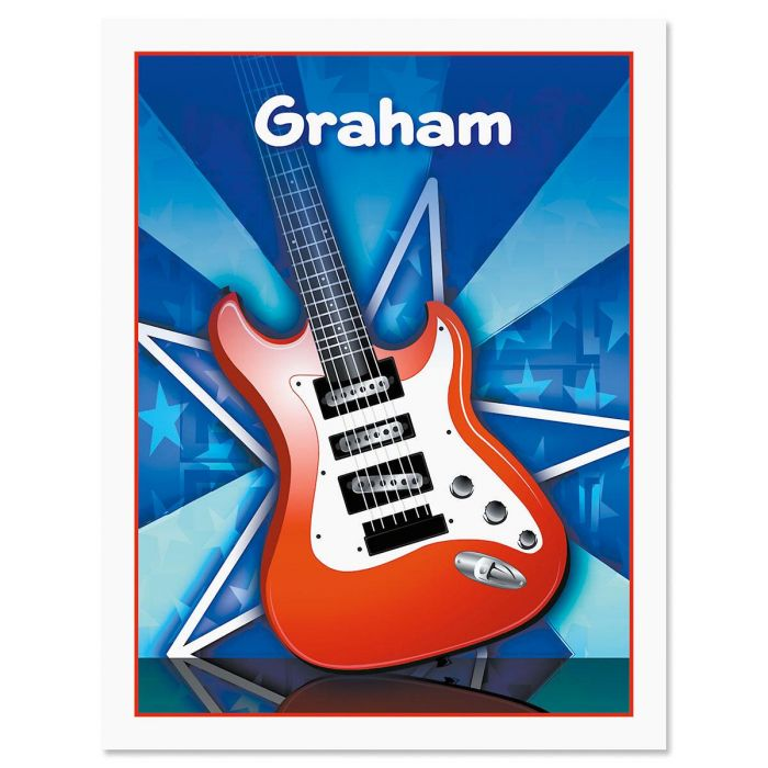 Guitar Kids Personalized Note Cards