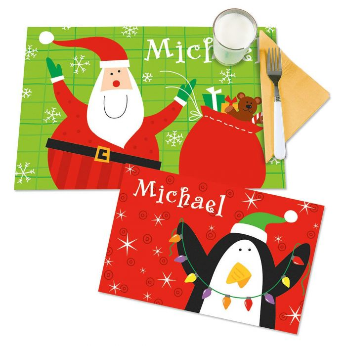 Santa/Penguin Christmas Kids' Placemats