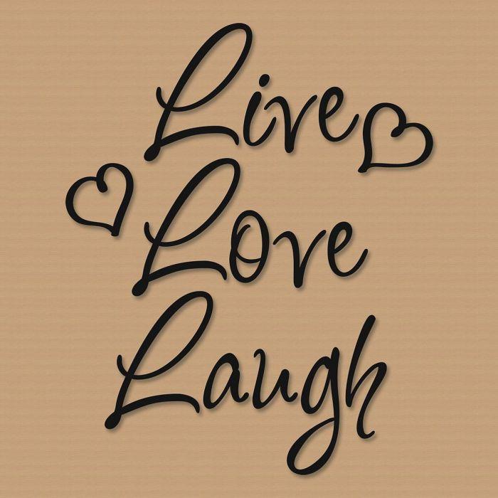 Live Love Laugh Vinyl Wall Words