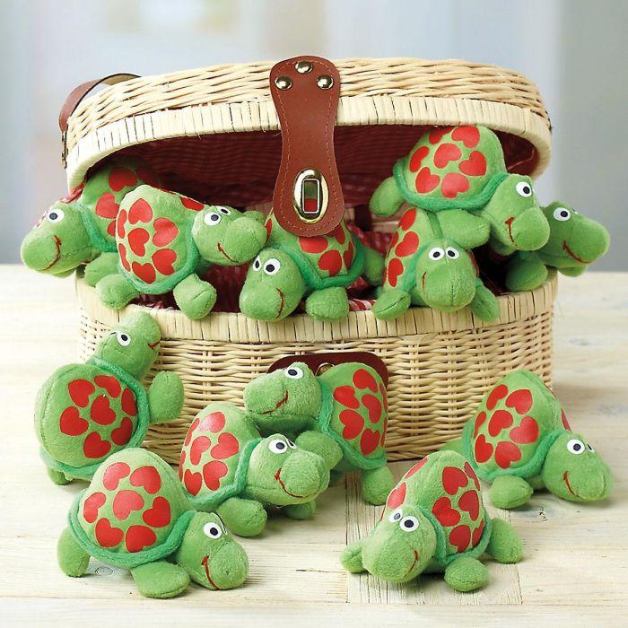 Plush Valentine Turtles