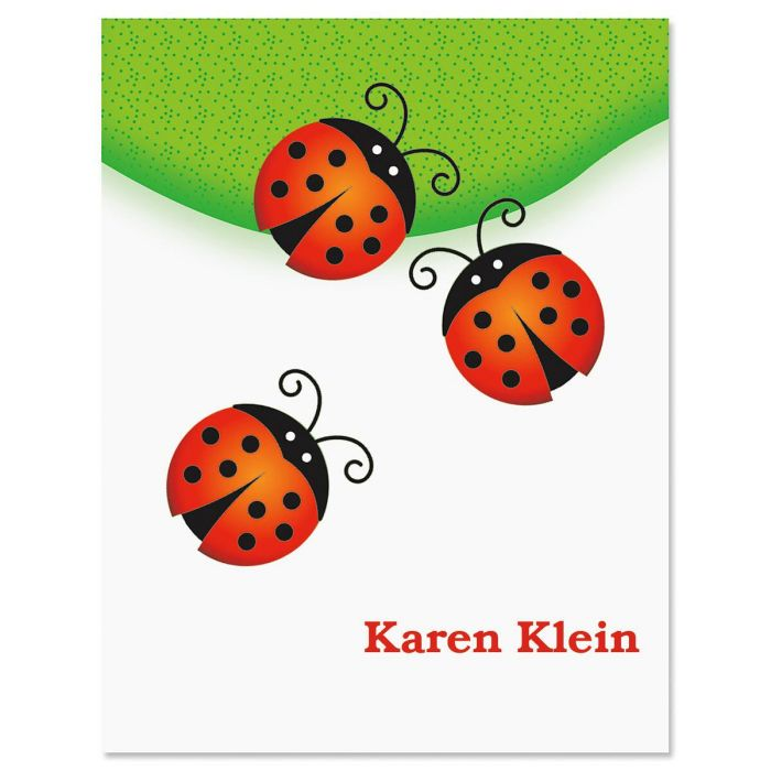 Ladybug Personalized Note Cards