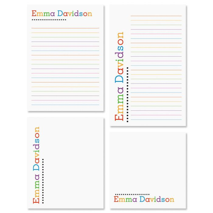Alpha Dots Personalized Notepad Set