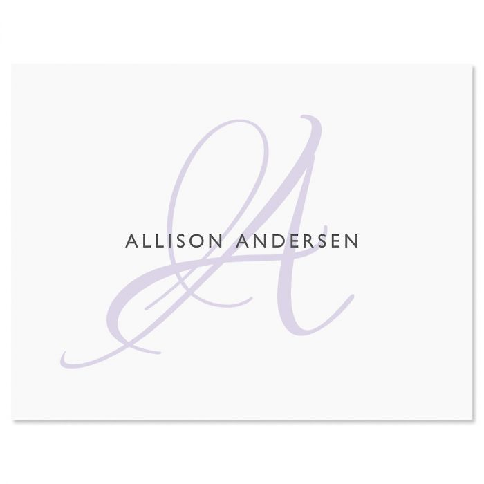 Initial Personalized Note Cards (4 Color Choices)