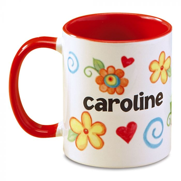 Floral Name Personalized Mug