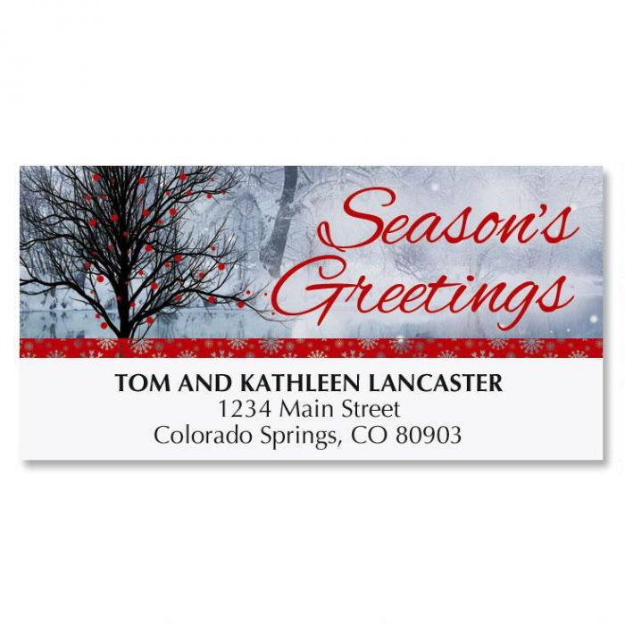 Bright Holiday Christmas Address Labels