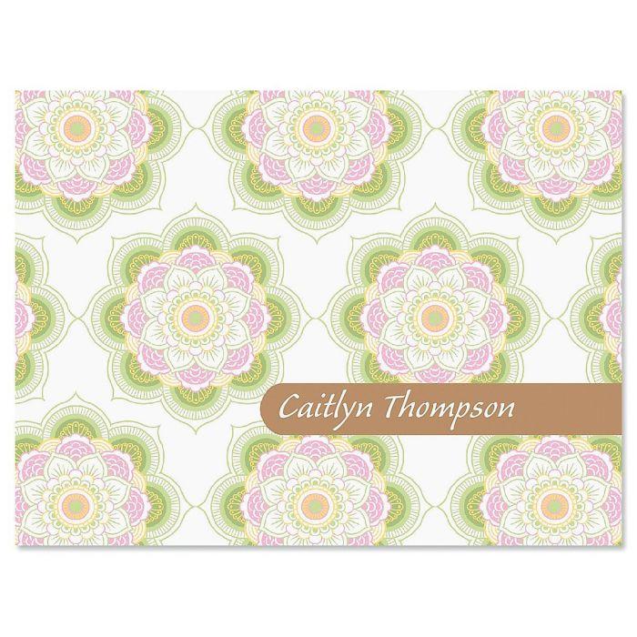 Mandala Personalized Note Cards