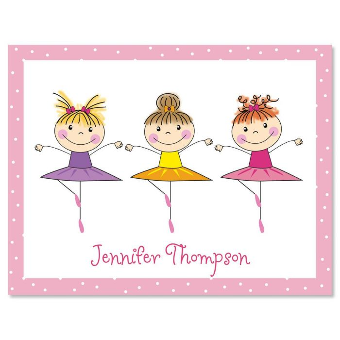 Tiny Dancer Personalized Note Cards