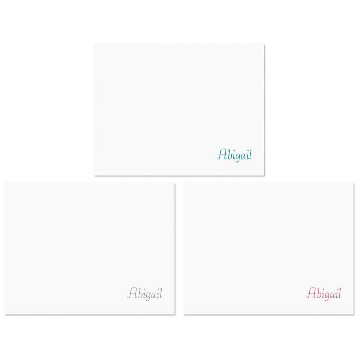 Namesake Personalized Note Cards  (3 Colors)