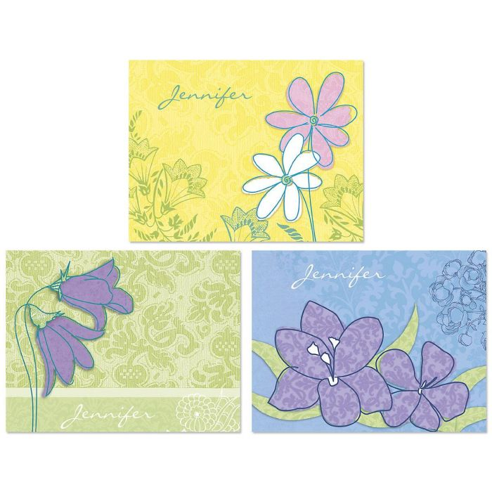 Blossom Time Personalized Note Cards  (3 Designs)