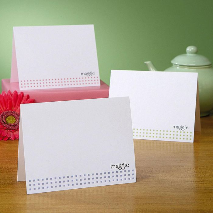 Mini Square Personalized Note Cards  (3 Colors)