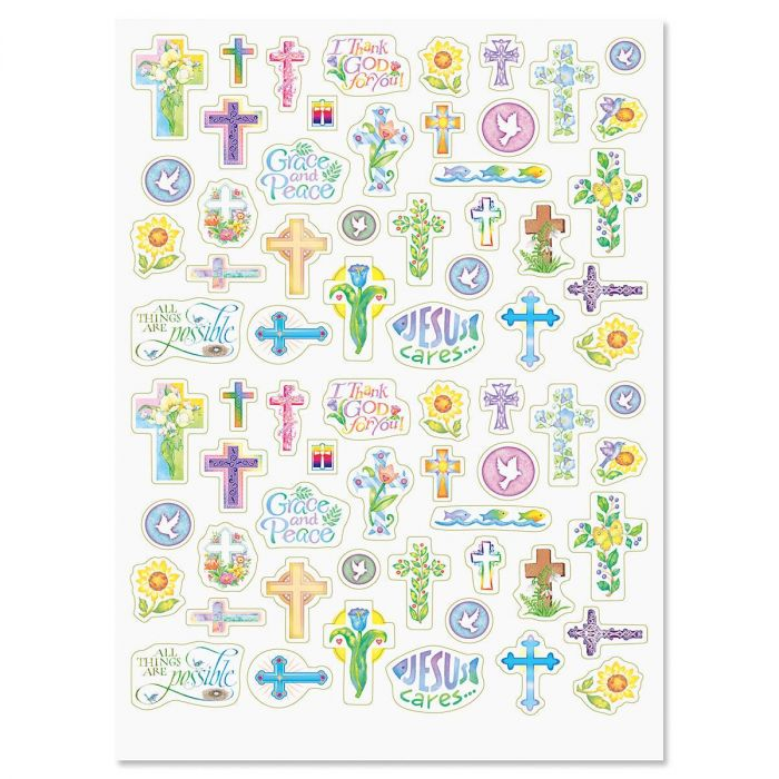 Floral & Cross Stickers