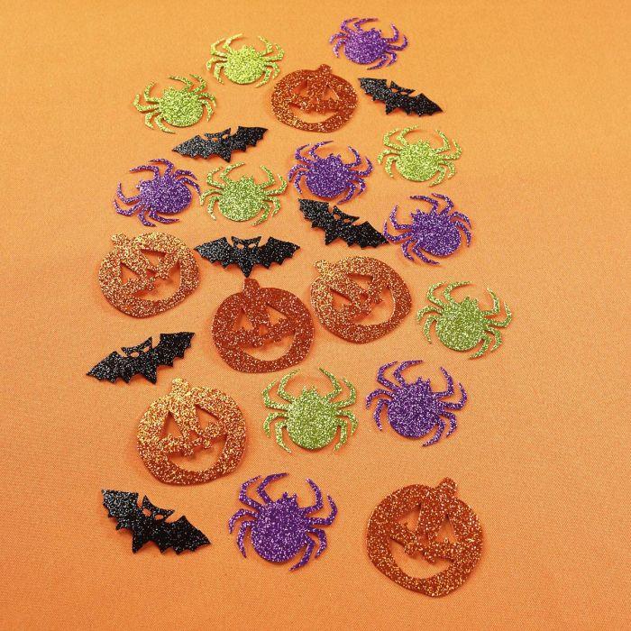 Glittering Halloween Table Scatters