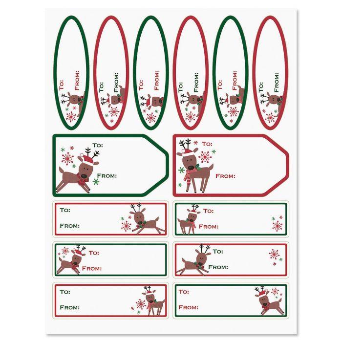 Merry Reindeer Labels