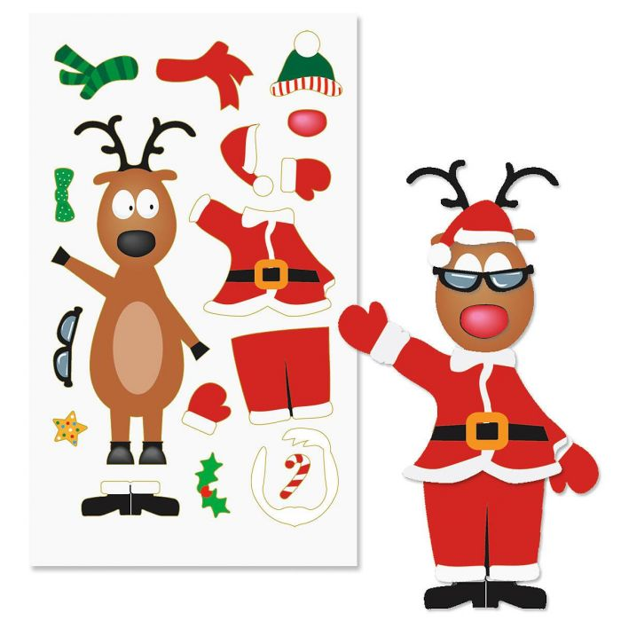 Decorate-Your-Own Reindeer Sticker Sheets