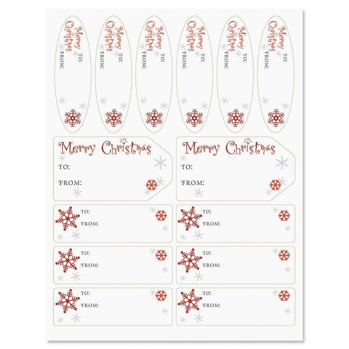 Merry Christmas Script Labels