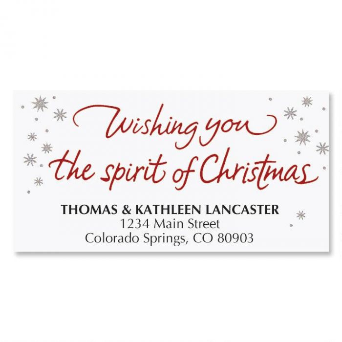 Christmas Wish Address Labels