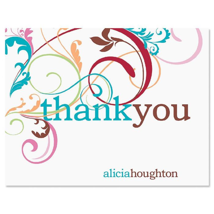 Fantasia Personalized Thank You Cards