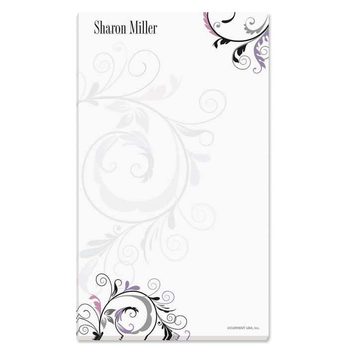 Black & Grey Fantasy Personalized Notepads