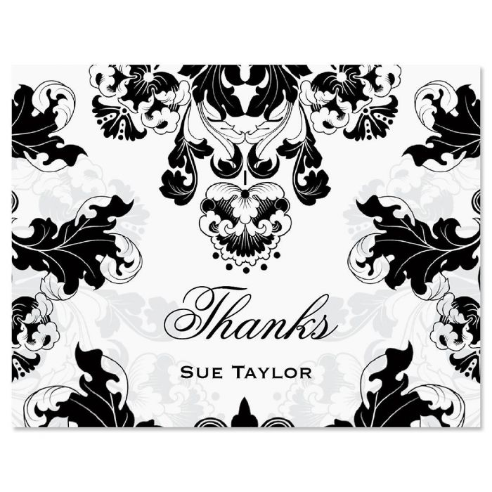 Rococo Personalized Thank You Cards