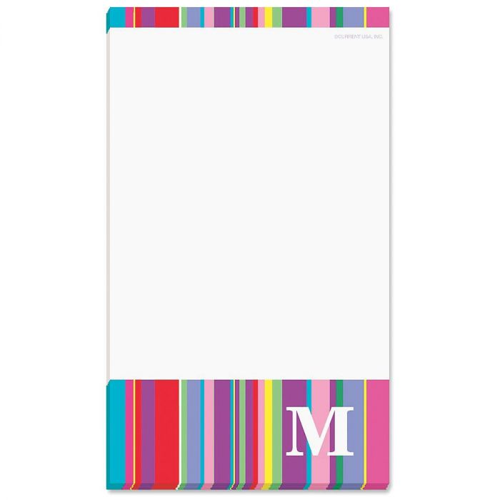 Bold Initial Personalized Notepads