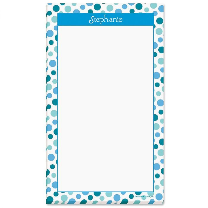 Zippy Dots Personalized Notepads