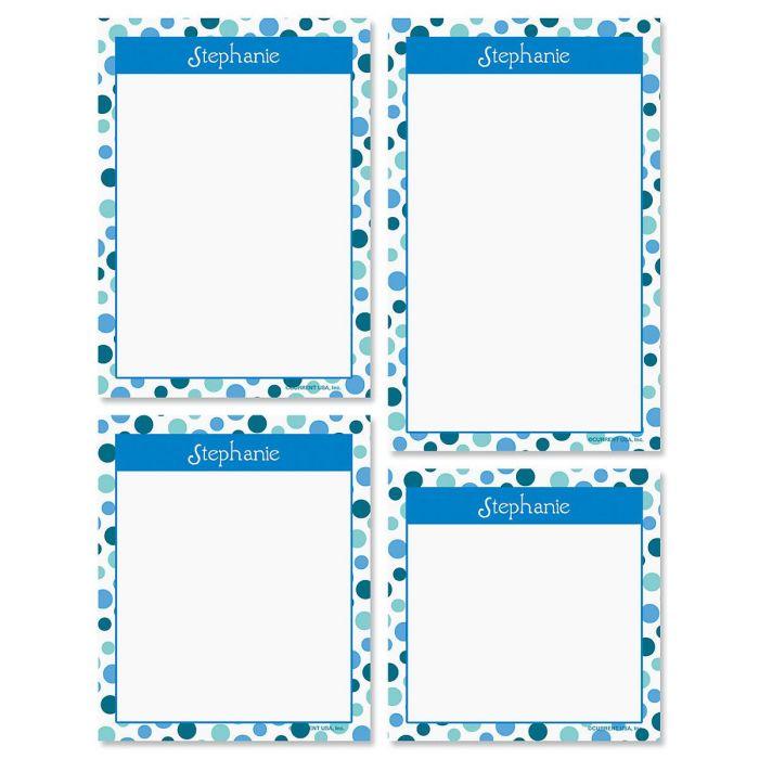 Zippy Dots Personalized Notepad Set