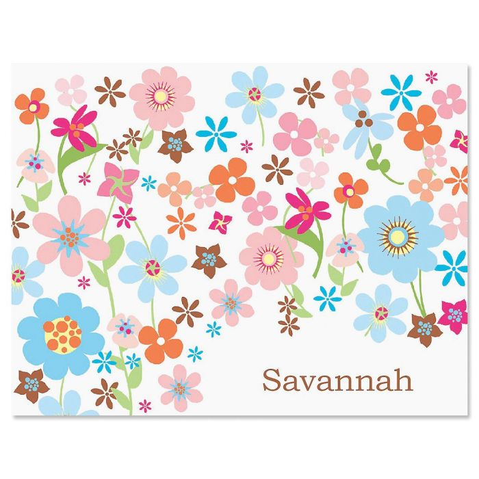 Sprightly Personalized Note Cards