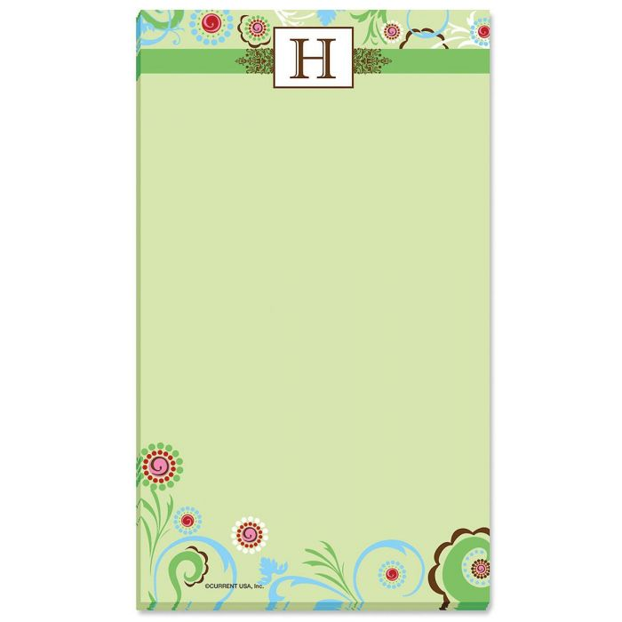 Fanciful Initial Personalized Notepads