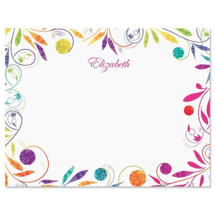 Color Swirl Correspondence Card