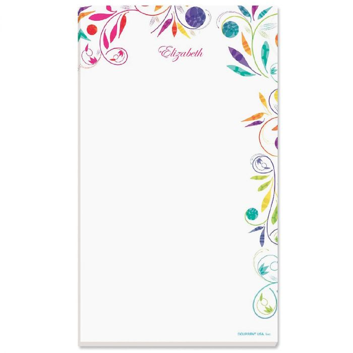 Color Swirl Personalized Notepads
