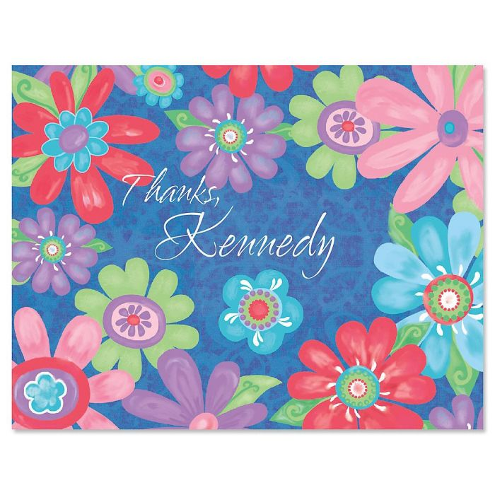 Blossom Personalized Thank You Cards