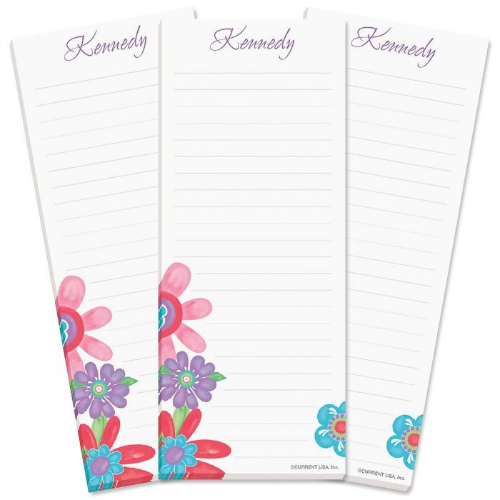 Blossom Lined Shopping List Pads