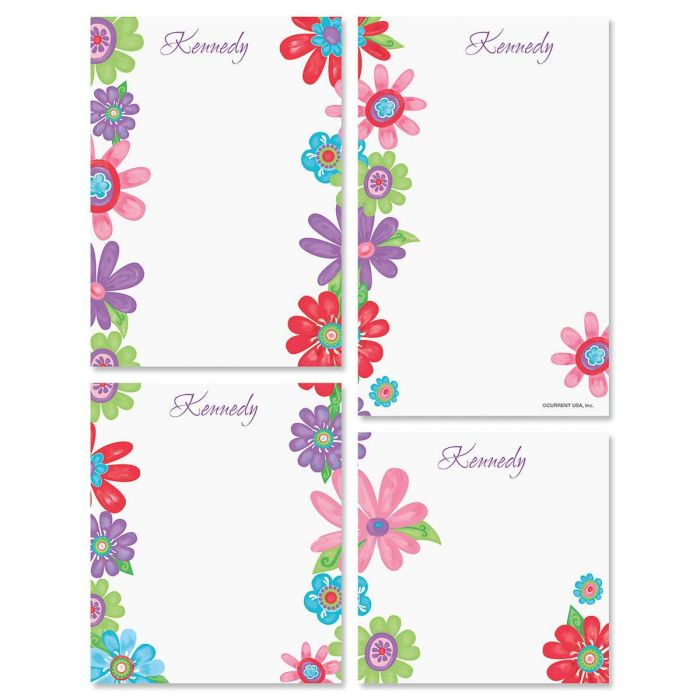 Blossom Personalized Notepad Set