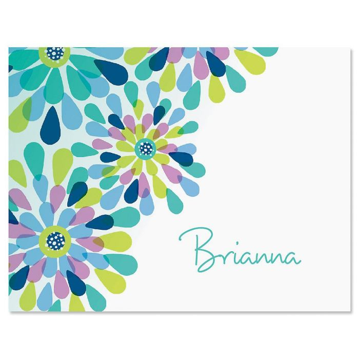 Fresh Blooms Personalized Note Cards